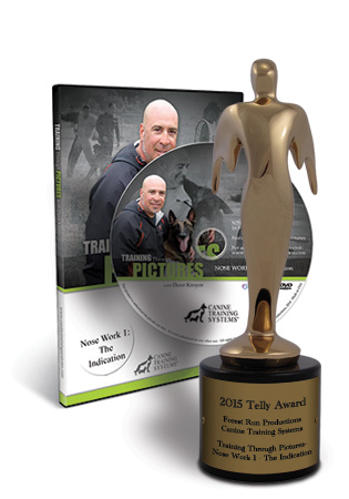Canine Training Systems Wins a 2015 Telly Bronze Award for Training Through Pictures with Dave Kroyer- Nose Work 1- The Indication