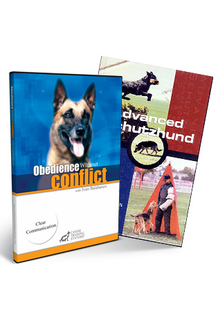 Obedience w/o Conflict 1- Clear Communication (DVD)/ Adv. Schutzhund (book) Combo