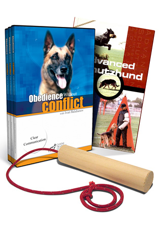 Obedience w/o Conflict 3 DVD Set/ Adv. Schutzhund (book)/ Retrieve Dowel Combo