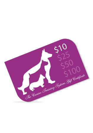 The Canine Training Systems $10 Gift Certificate