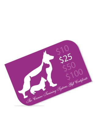 The Canine Training Systems $25 Gift Certificate
