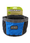 The Outward Hound Travel Bowl in Blue