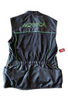 The Roca Training Vest with Green Logos Back
