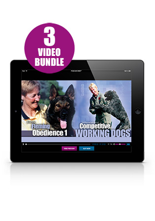 The Foundations of Competitive Working Dogs Obedience Video 1, 2 and 3 Set (German)