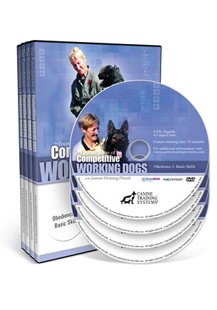 The Foundations of Competitive Working Dogs Obedience Video 1, 2 and 3 Set